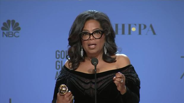 Oprah Winfrey Claims Lifetime Golden Globe, Calls for 'a New Day'