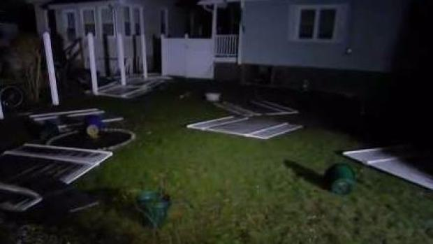 [NECN] Quincy Residents Return to Damaged Homes