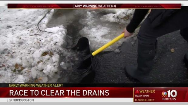 [NECN] Residents Race to Clear Storm Drains