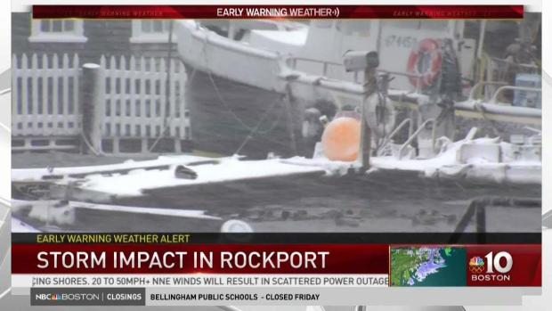 [NECN] Storm Impact in Rockport, Mass.