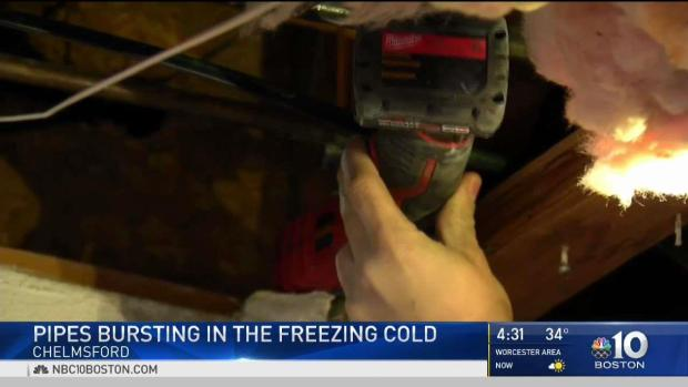 [NECN] Pipes Continue to Burst in the Freezing Cold