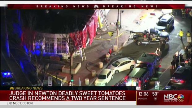 [NECN] Judge Recommends 2-Year Sentence in Sweet Tomatoes Crash