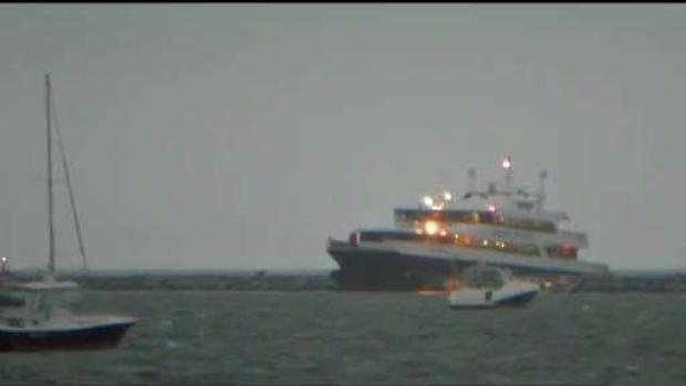 Ferry captain, pilot on leave after crash that injured 18