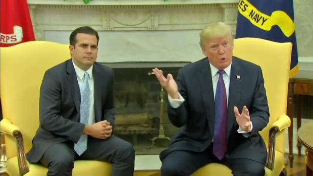 [NATL-MI] President Trump Gives Himself a '10' on Puerto Rico Response