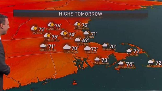 [NECN] Cooler, Less Humid Sunday Ahead