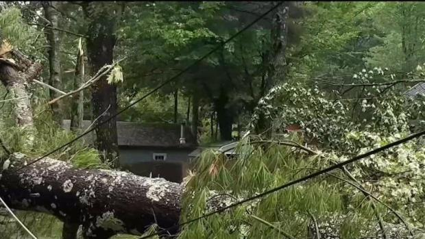 [NECN] Widespread Damage in NH After Severe Weather Hits