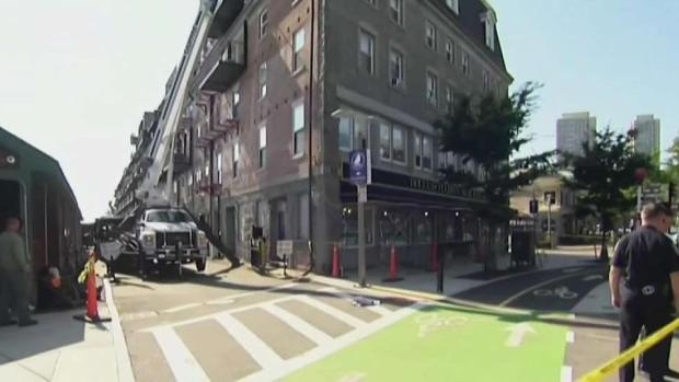 [NECN] Woman Injured by Falling Debris in Boston's North End