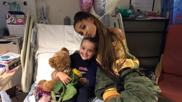 Pop Star Ariana Grande Visits Fans at Manchester Hospital