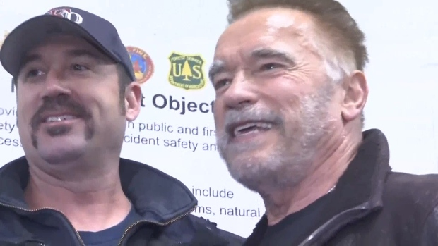 [NATL] Schwarzenegger: Firefighters Are Camp Fire's 'True Action Heroes'