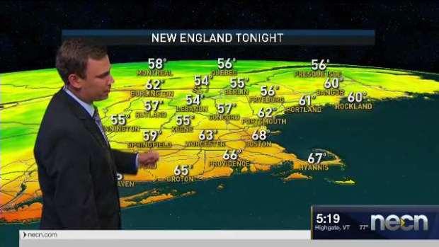 [NECN] Evening Temperatures to Cool