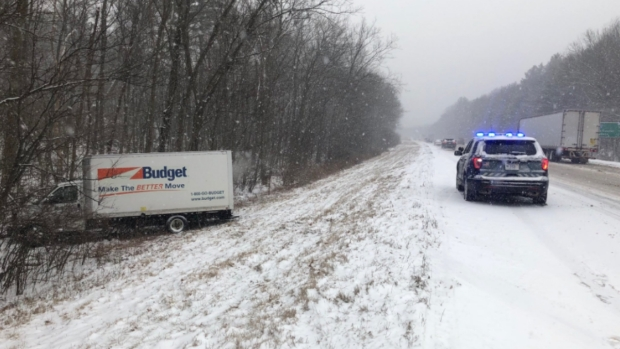 Snow Covered Roads Cause Crashes Across New England