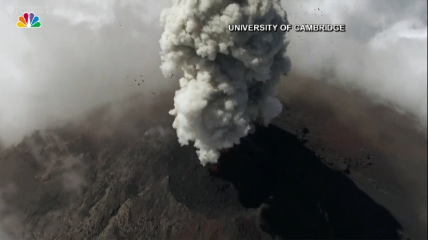 [NATL] Drone Captures Incredible Footage Above Active Volcano