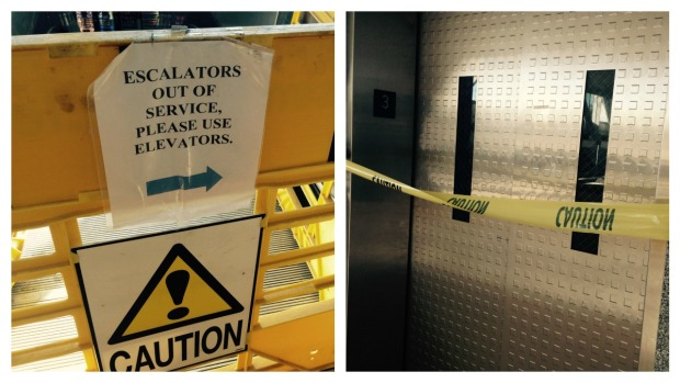 Broken Elevators, Escalators at Amtrak Station