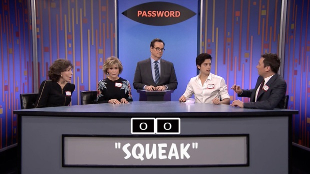 [NATL] 'Tonight': Password with Lily Tomlin, Jane Fonda and Cole Sprouse