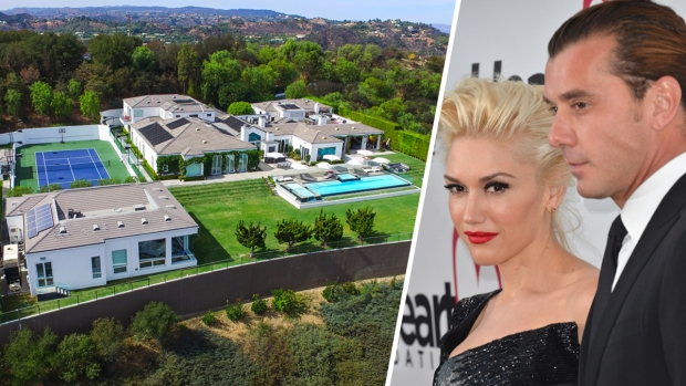 [NATL-NBC O&Os ONLY]Gwen Stefani and Gavin Rossdale List Beverly Hills Estate for $35M