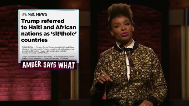[NATL] 'Late Night': 'Amber Says What?' Black Panther Edition