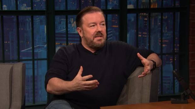 [NATL] 'Late Night': Ricky Gervais Shares What Aging Has Done to His Body