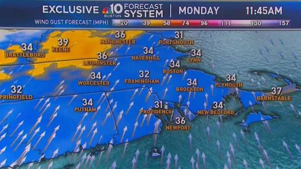 [NECN] Weather Forecast: Windy and Warm Monday