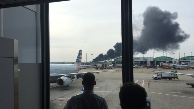Dramatic Images: American Airlines Plane Fire at O'Hare
