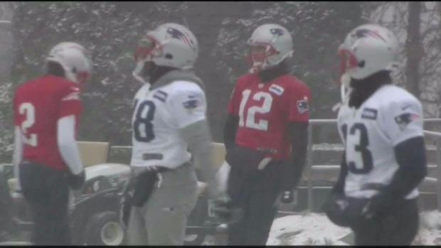 [NECN] Patriots Practice in Snow Before Heading to Miami for Monday Night Game