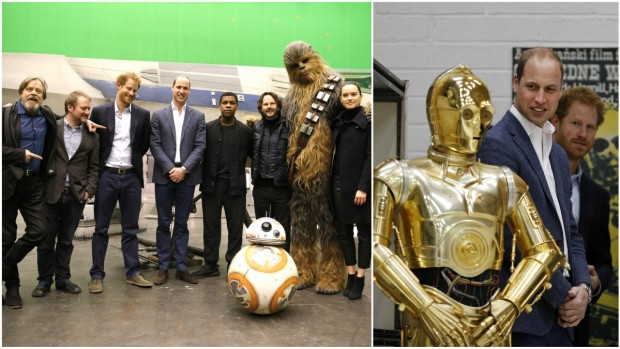Royal Family Pics: Princes Attend UK 'Star Wars' Premiere