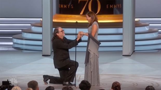 [NATL] 'I Want You To Be My Wife': Surprise Proposal Highlights Emmys Night