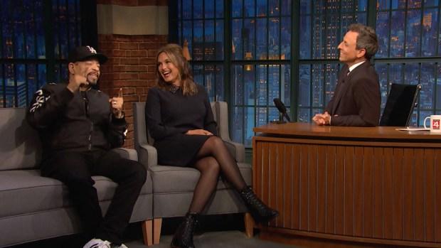 [NATL] 'Late Night': Mariska Hargitay, Ice-T Reflect on 'SVU'