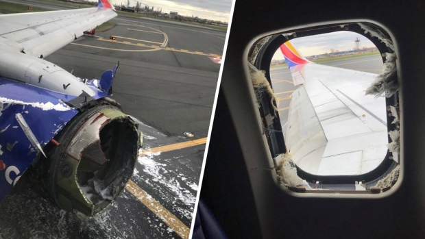 Photos: Southwest Flight Lands at PHL After Engine Blows