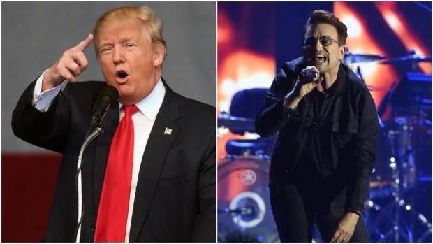 [NATL] Bono Slams Trump at Bay Area Benefit Concert