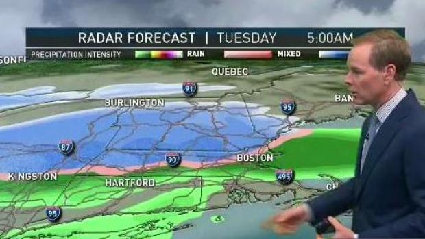 [NECN] Light Overnight Showers; Snow Storms Return Tuesday