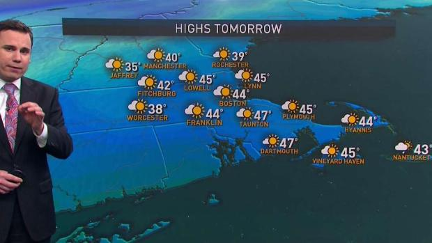 [NECN] Rain, Clouds Exit Overnight, Making Way for Pleasant Sunday