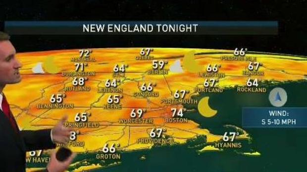 [NECN] Hazy, Hot Friday Ahead of Possible Storms Saturday
