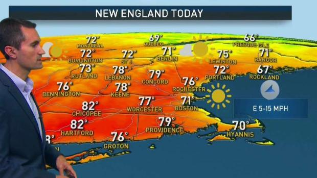 [NECN] Clear, Sunny Saturday for Pride Parade