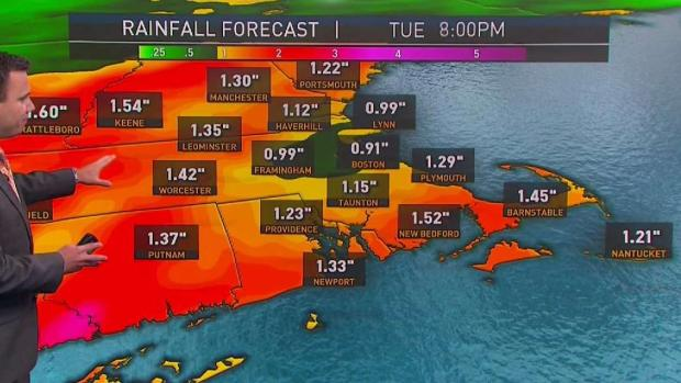 [NECN] Heavy Rain Returns Tuesday
