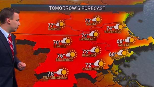 [NECN] Comfy, Clear Sunday Night Ahead of Beautiful Memorial Day