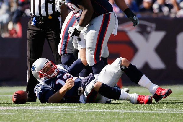 Brady Hit Hard During Loss to Panthers
