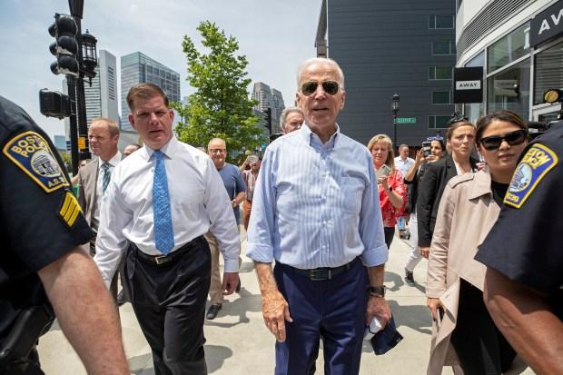 Biden Visits Boston