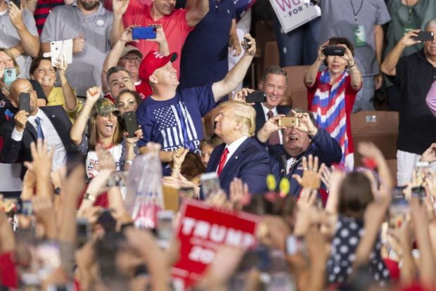 Scenes From President Trump's NH Rally