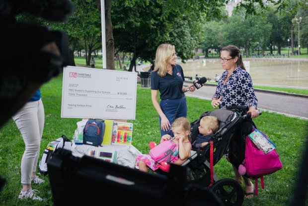Images: Viewers Pitch in to #SupportingOurSchools Initiative at Boston's Frog Pond