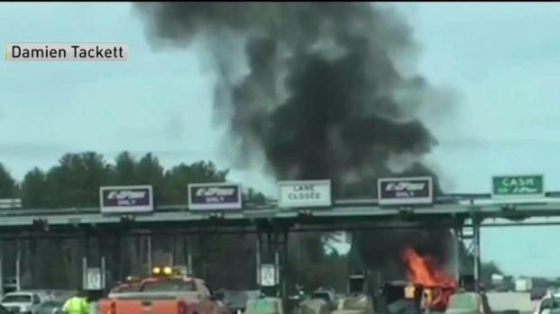 [NECN] Deadly Crash Into NH Toll Booth