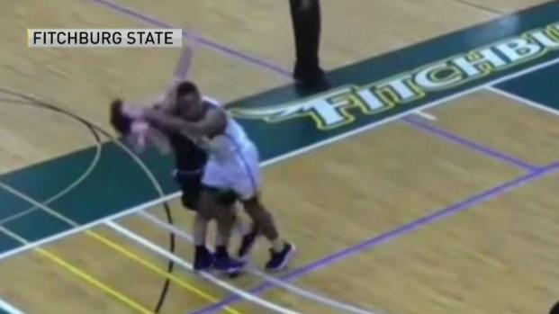 [NECN] Flagrant Foul Gets Fitchburg State Player Banned