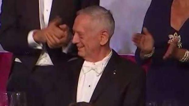 [NATL-NY] General Jim Mattis Cracks Trump Joke At Al Smith Dinner