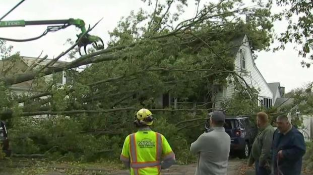Mass. Crews Clean Up After Powerful Storm