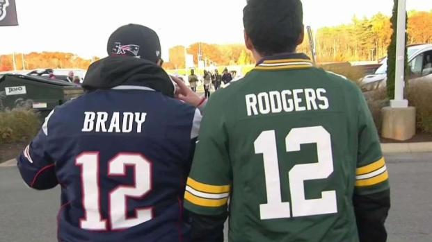 [NECN] Pats and Packers Fans Tailgate Before Game