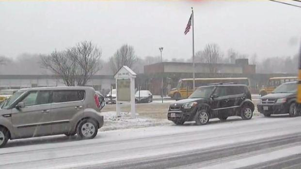 [NECN] Schools Call for Early Dismissals Amid Wednesday Snow