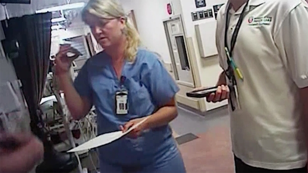 [NATL]RAW VIDEO: Utah Nurse Cuffed for Refusing Warrantless Blood Sample Request