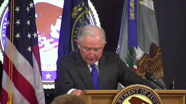 [NECN] Sessions Announces New Opioid Strategy in NH