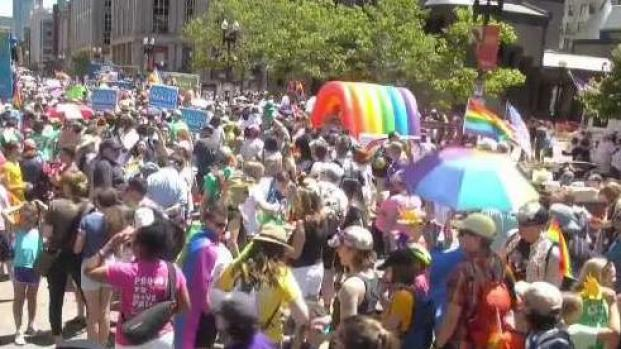 [NECN] Thousands Attending 2019 Boston Pride Parade
