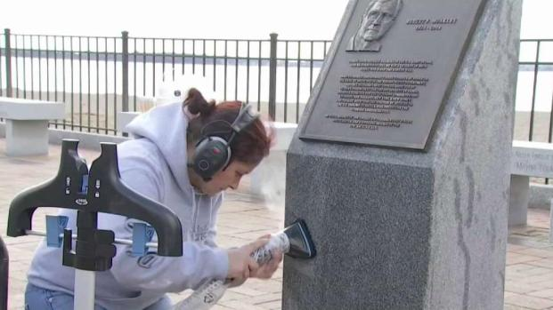 [NECN] Vandalism Cleanup Continues in South Boston