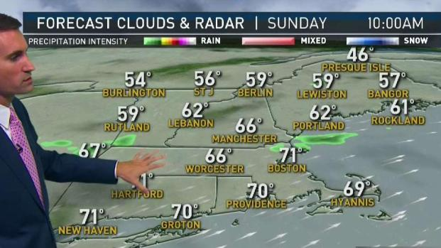 [NECN] Warm Sunday Ahead With Possible Showers